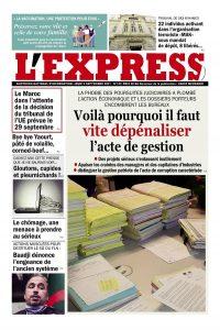 L'express quotidien du 06/09/2021