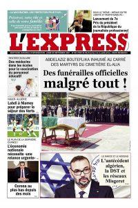 L'express quotidien du 20/09/2021