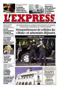 L'express quotidien du 14/10/2021