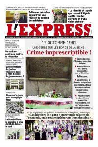 L'express quotidien du 17/10/2021