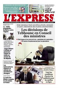 L'express quotidien du 18/10/2021